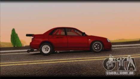 Subaru Impreza STi Drag Racing Unlim 500 para GTA San Andreas vista traseira