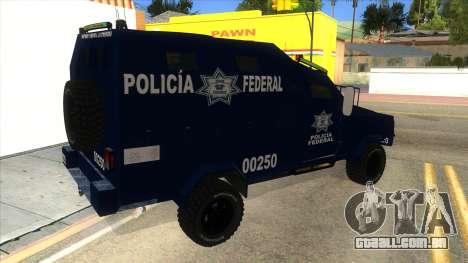 Black Scorpion Police para GTA San Andreas vista direita