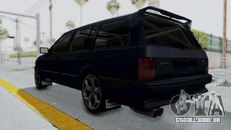 Ford Sierra Turnier 4x4 Saphirre Cosworth para GTA San Andreas vista direita
