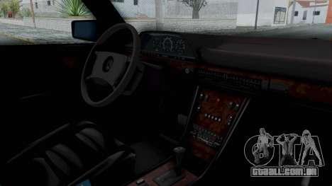 Mercedes-Benz 560SEL 1987 US-spec para GTA San Andreas vista direita