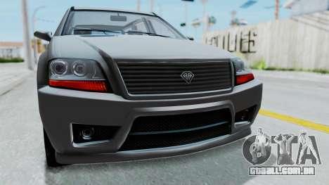 GTA 5 Benefactor Serrano IVF para GTA San Andreas vista interior