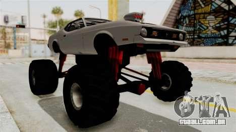 Ford Mustang 1971 Monster Truck para GTA San Andreas vista direita