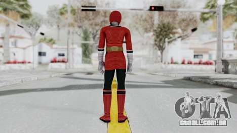 Power Rangers Samurai - Red 2 para GTA San Andreas terceira tela