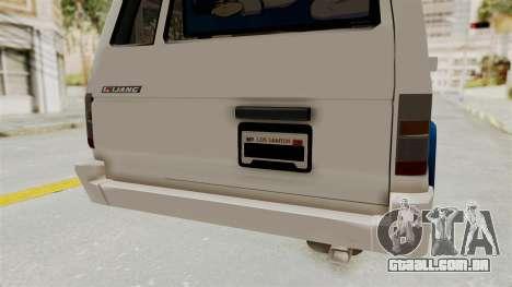Toyota Kijang Miku Itasha Version para GTA San Andreas vista inferior