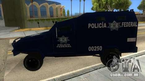 Black Scorpion Police para GTA San Andreas esquerda vista
