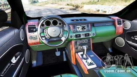 GTA 5 Range Rover Evoque traseira direita vista lateral