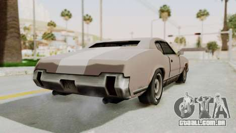 GTA Vice City - Sabre Turbo (Sprayable) para GTA San Andreas esquerda vista
