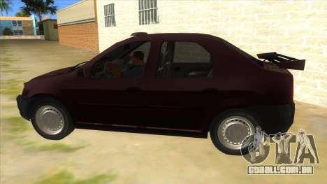 Dacia Logan Sport para GTA San Andreas esquerda vista