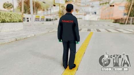 GTA 5 Paramedic SF para GTA San Andreas terceira tela