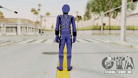 Power Rangers Jungle Fury - Blue para GTA San Andreas terceira tela
