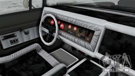 GTA 5 Declasse Tornado Hifi and Hydro IVF para GTA San Andreas vista interior