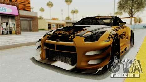 Nissan GT-R Fake Taxi para GTA San Andreas traseira esquerda vista