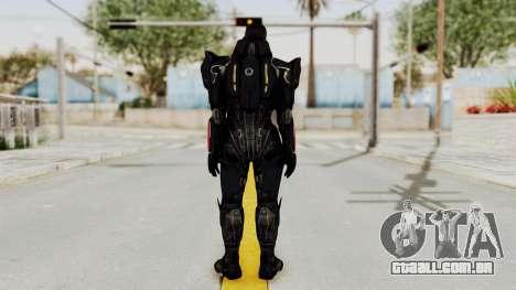 Mass Effect 3 Shepard N7 Destroyer Armor para GTA San Andreas terceira tela