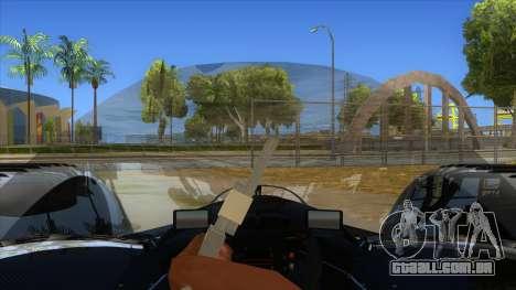 RedBull X2010 para GTA San Andreas vista interior