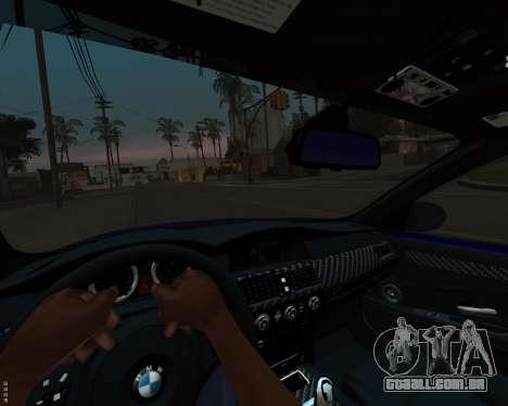 BMW M5 E60 v1.0 para GTA San Andreas vista superior