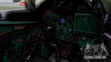Mi-24V Soviet Air Force 0835 para GTA San Andreas vista interior