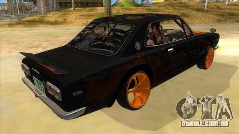 1971 Nissan GT-R Hakosuka para GTA San Andreas vista direita