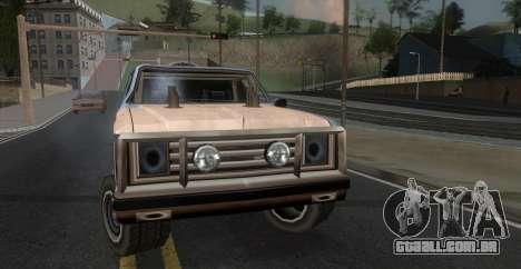 Derby Rancher para GTA San Andreas traseira esquerda vista