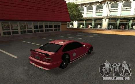 BMW M3 E46 Tunable para GTA San Andreas vista direita