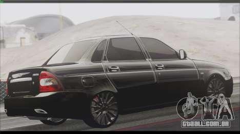 Lada Priora Sedan para GTA San Andreas vista traseira