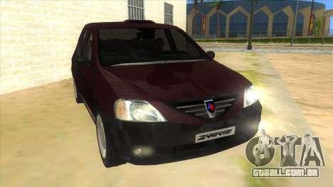 Dacia Logan Sport para GTA San Andreas vista traseira