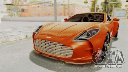 Aston Martin One-77 2010 Autovista Interior para GTA San Andreas
