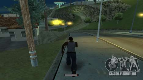 O indicador de execução rápida para GTA San Andreas segunda tela