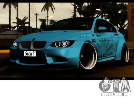 BMW M3 E92 Liberdade Pé LB Desempenho para GTA San Andreas vista traseira
