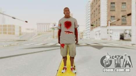 GTA 5 Franklin Zombie Skin para GTA San Andreas segunda tela