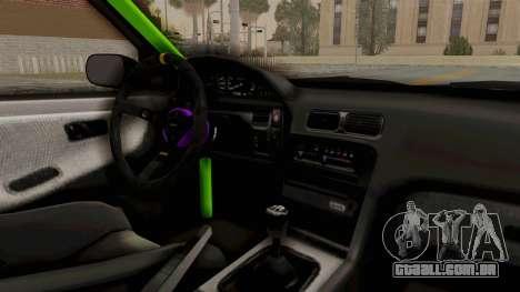 Nissan 240SX Drift Monster Energy Falken para GTA San Andreas vista interior