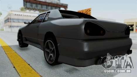Elegy v2 para GTA San Andreas traseira esquerda vista