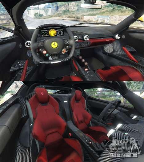 GTA 5 Ferrari LaFerrari traseira direita vista lateral