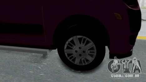 Fiat Doblo para GTA San Andreas vista traseira