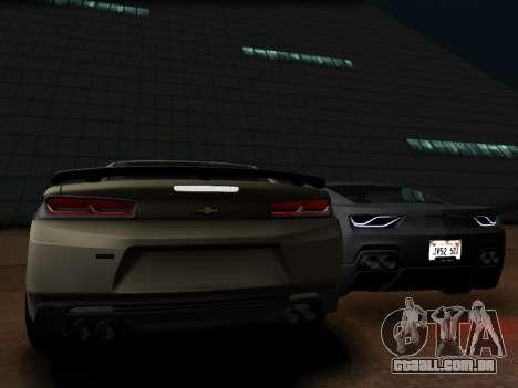 Chevrolet Camaro SS 2016 para GTA San Andreas vista direita