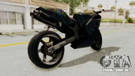 FCR-900 Stunt para GTA San Andreas traseira esquerda vista