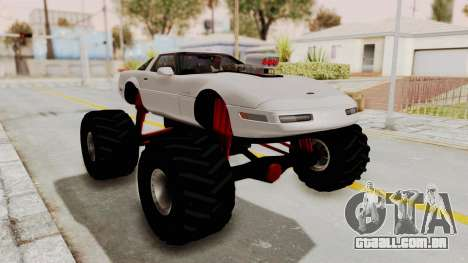 Chevrolet Corvette C4 Monster Truck para GTA San Andreas esquerda vista