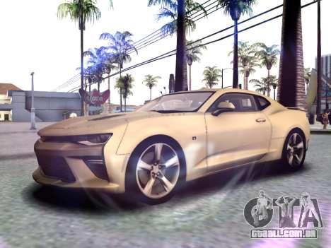 Chevrolet Camaro SS 2016 para GTA San Andreas esquerda vista