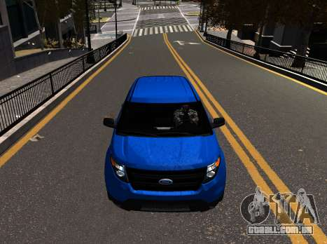 Ford Explorer 2013 para GTA 4 traseira esquerda vista