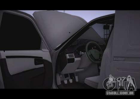 Lada Priora Stok Budka para GTA San Andreas vista traseira