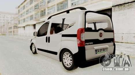 Fiat Fiorino 2014 para GTA San Andreas traseira esquerda vista