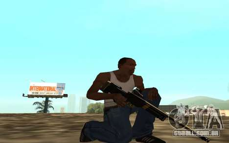 Golden weapon pack para GTA San Andreas sétima tela