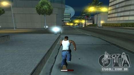 O indicador de execução rápida para GTA San Andreas terceira tela