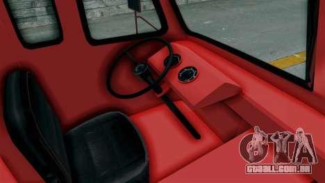 Ford P600 1964 Coca-Cola Delivery Truck para GTA San Andreas vista interior