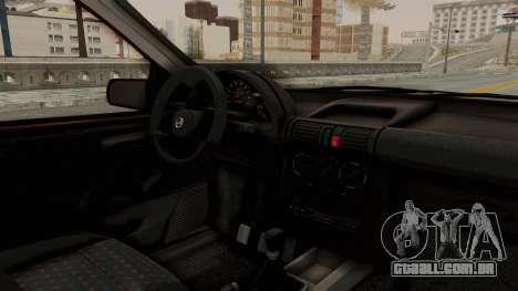 Chevrolet Corsa Hatchback Tuning v1 para GTA San Andreas vista interior
