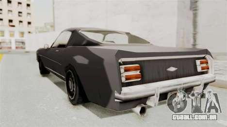 Dominator Classic para GTA San Andreas esquerda vista