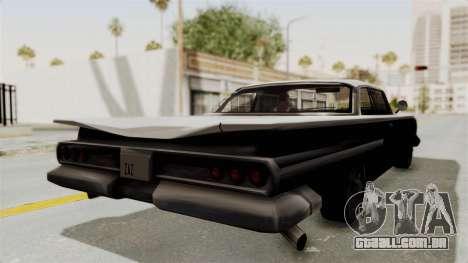 Voodoo Limited Edition para GTA San Andreas traseira esquerda vista