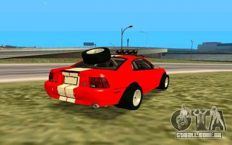 Ford Mustang 1999 para GTA San Andreas vista traseira