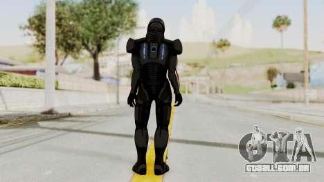 Mass Effect 2 Shepard Default N7 Armor Helmet para GTA San Andreas terceira tela