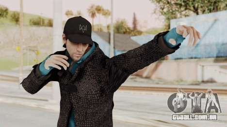 Watchdogs Aiden Pierce DedSec Outfit para GTA San Andreas