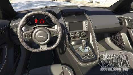 GTA 5 Jaguar F-Type Project 7 2016 traseira direita vista lateral
